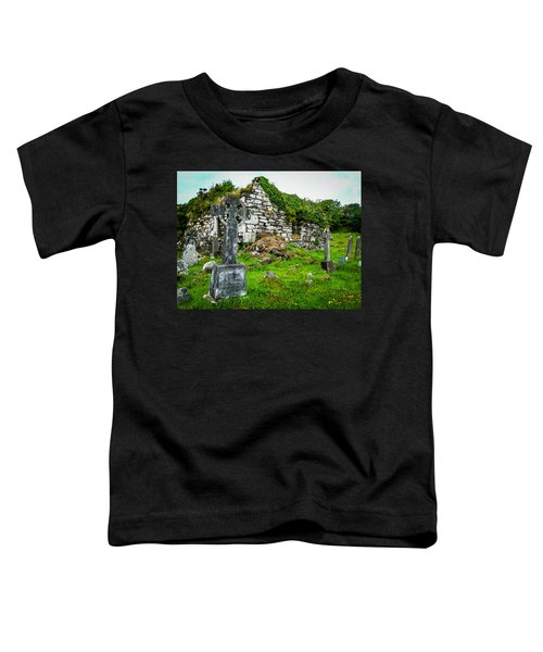 Toddler T-Shirt featuring the photograph Graveyard And Church Ruins On Ireland's Mizen Peninsula by James Truett