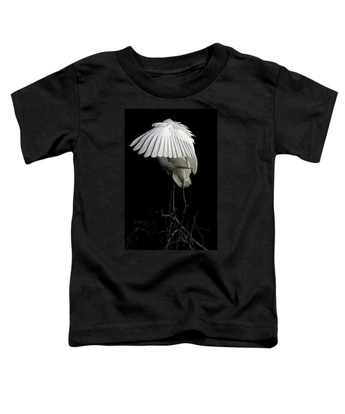 Great Egret Bowing Toddler T-Shirt