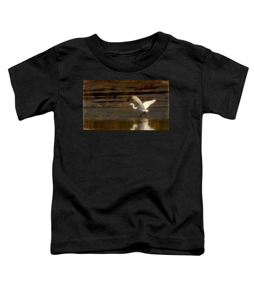 Great Egret Taking Off Toddler T-Shirt