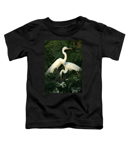 Great White Egret Mates Toddler T-Shirt