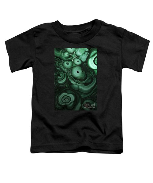 Toddler T-Shirt featuring the photograph Green Patterns Of Malachite by Jaroslaw Blaminsky