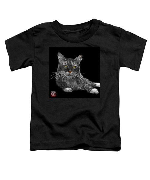 Greyscale Maine Coon Cat - 3926 - Bb Toddler T-Shirt