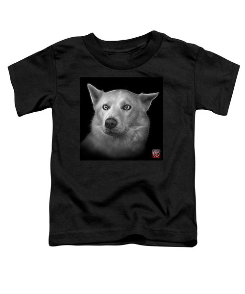 Greyscale Mila - Siberian Husky - 2103 - Bb Toddler T-Shirt