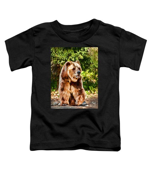 Grizzly Bear - Painterly Toddler T-Shirt