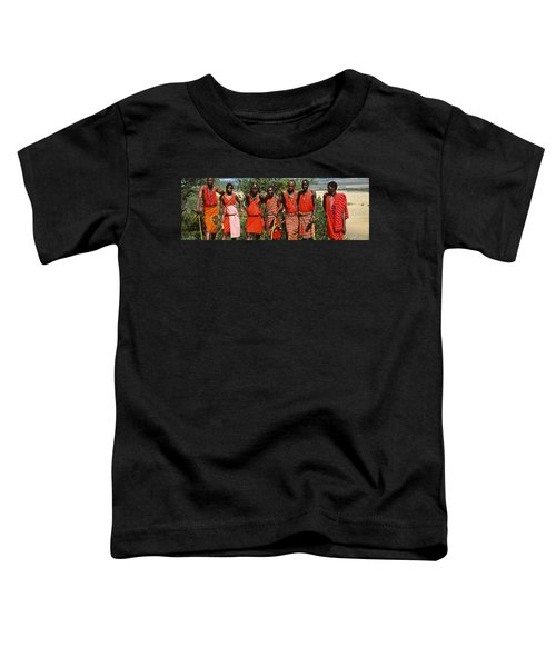 Group Of Maasai People Standing Side Toddler T-Shirt