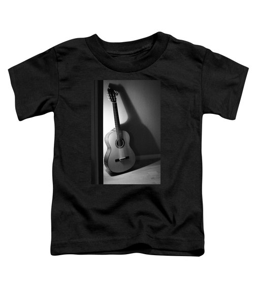 Guitar Still Life In Black And White Toddler T-Shirt
