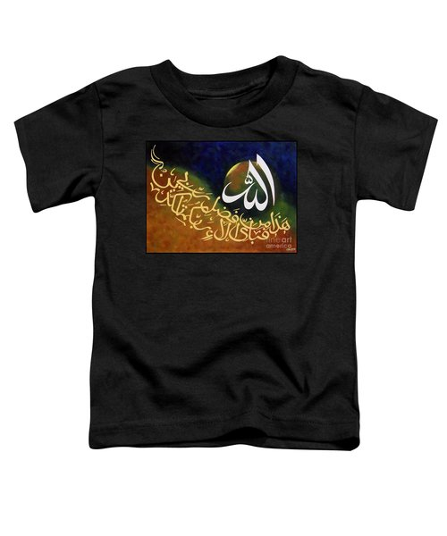 Haza Min Fazle Rabi Toddler T-Shirt
