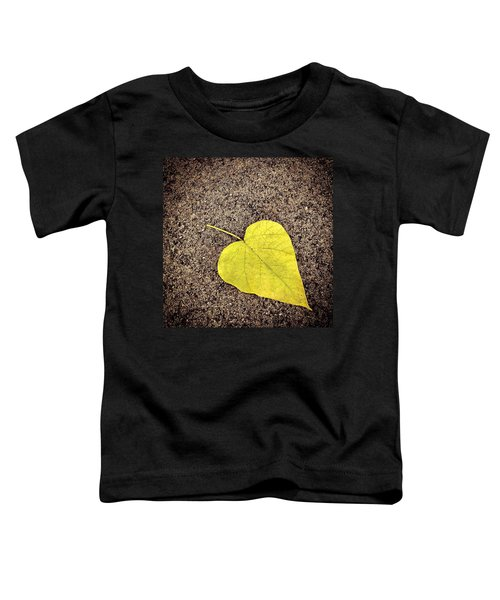 Heart Shaped Leaf On Pavement Toddler T-Shirt