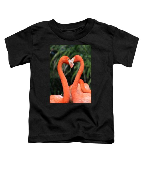 Heart To Heart Flamingo's Toddler T-Shirt