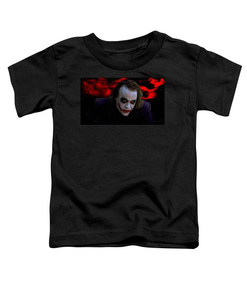 Heath Ledger As Joker Toddler T-Shirt by Image World