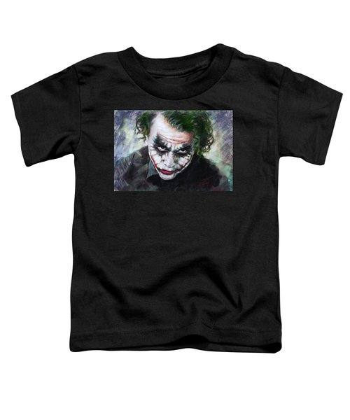 Heath Ledger The Dark Knight Toddler T-Shirt by Viola El