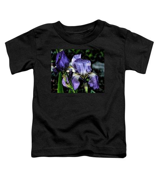 Heirloom Purple Iris Blooms Toddler T-Shirt