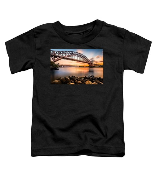 Hell Gate And Triboro Bridge At Sunset Toddler T-Shirt