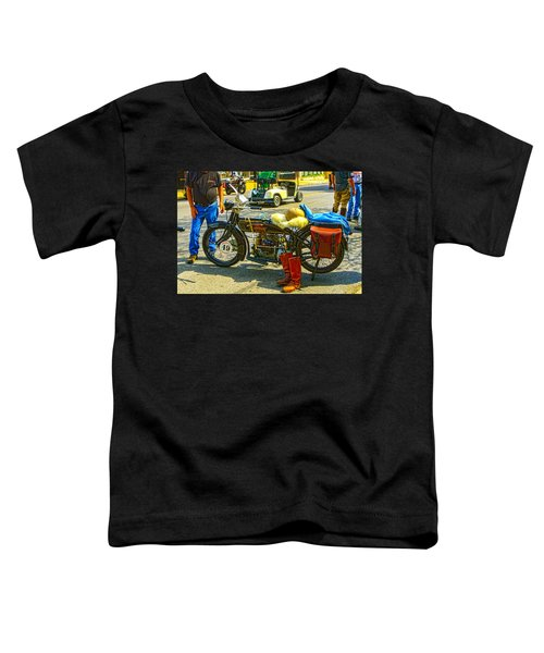 Henderson At Cannonball Motorcycle Toddler T-Shirt