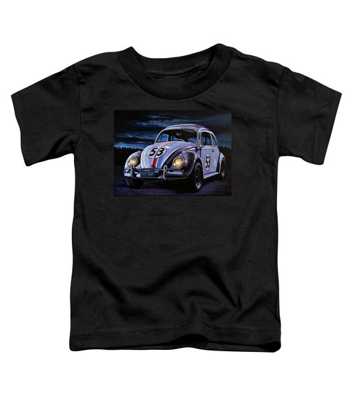 Herbie The Love Bug Painting Toddler T-Shirt