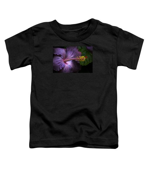 Hibiscus Bloom In Lavender Toddler T-Shirt