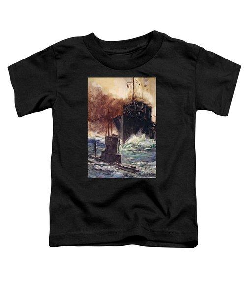 Hms Badger Ramming A German Submarine Toddler T-Shirt