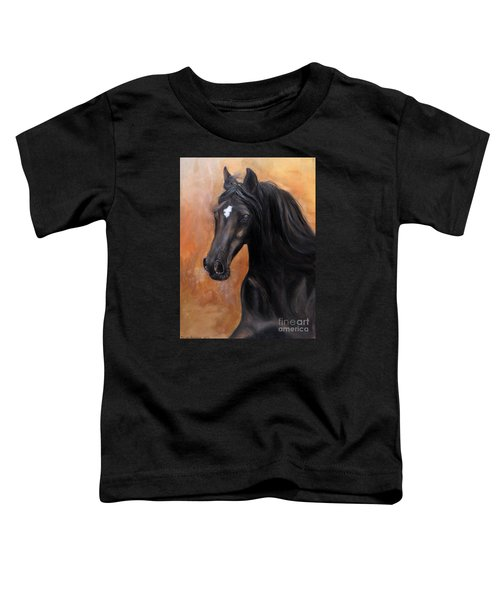 Toddler T-Shirt featuring the painting Horse - Lucky Star by Go Van Kampen