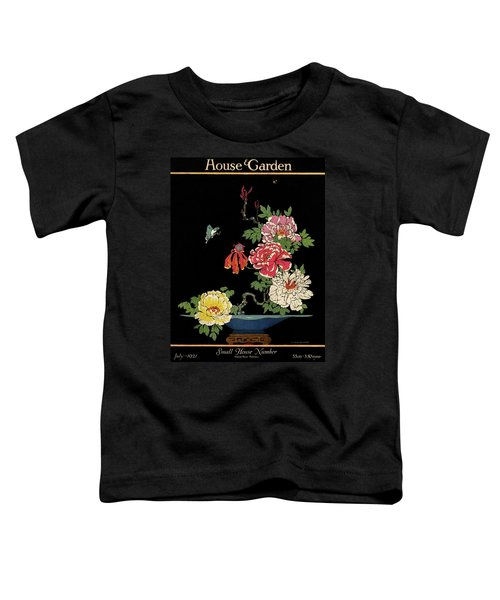 House & Garden Cover Illustration Of Peonies Toddler T-Shirt