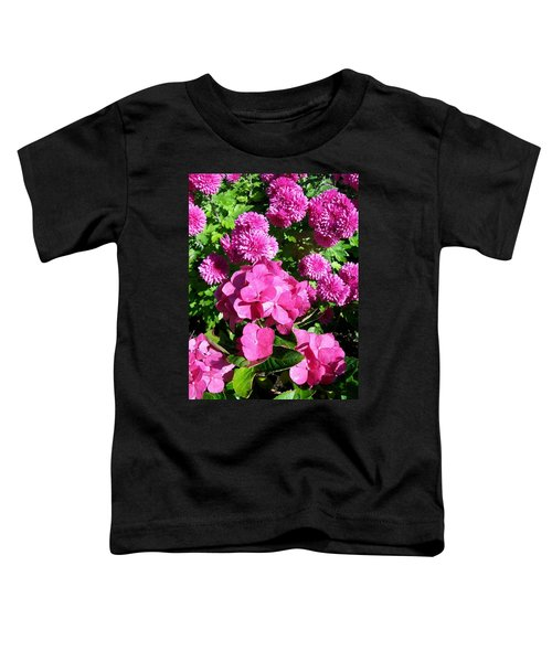 Hydrangea And Mums  Toddler T-Shirt