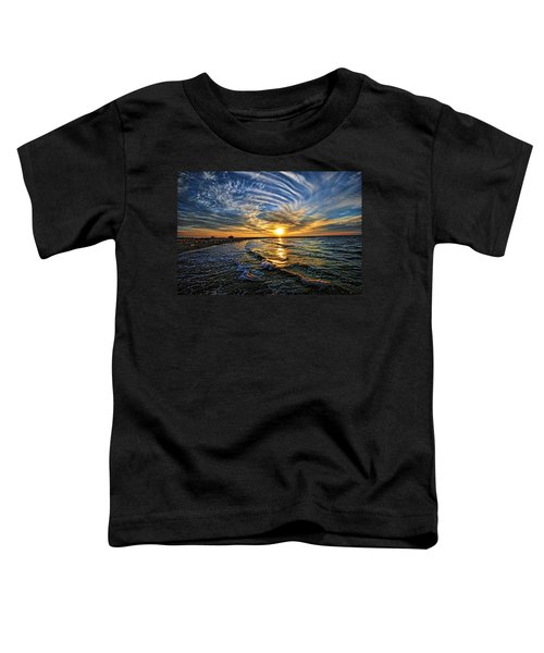 Hypnotic Sunset At Israel Toddler T-Shirt