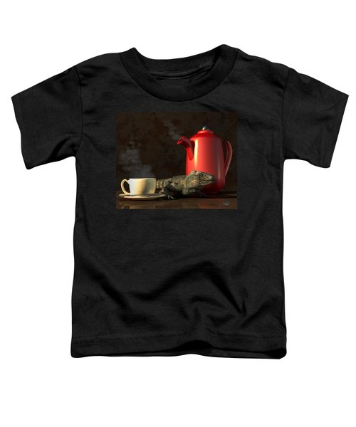 Iguana Coffee Toddler T-Shirt
