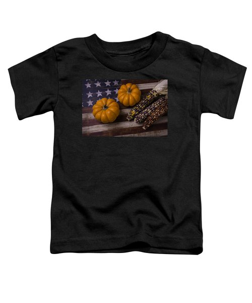 Indian Corn On Old Flag Toddler T-Shirt