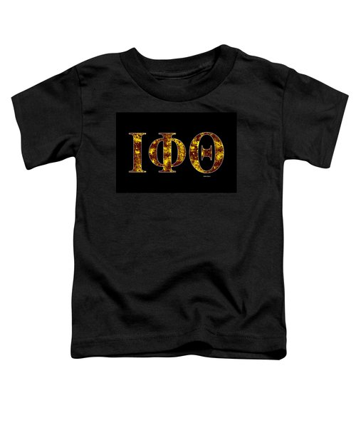 Iota Phi Theta - Black Toddler T-Shirt by Stephen Younts