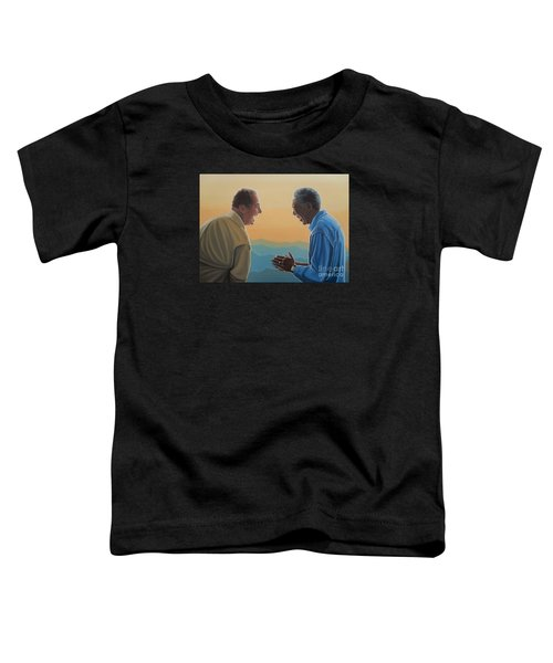 Jack Nicholson And Morgan Freeman Toddler T-Shirt by Paul Meijering