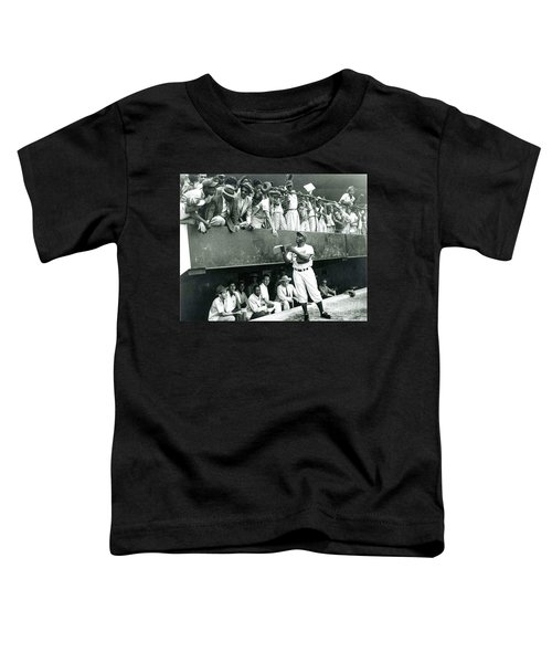 Jackie Robinson Signs Autographs Vintage Baseball Toddler T-Shirt