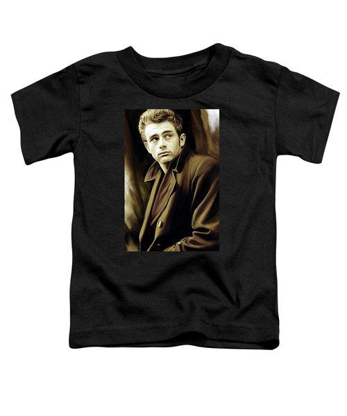 James Dean Artwork Toddler T-Shirt by Sheraz A