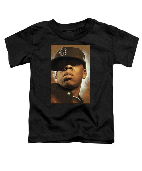 Jay-z Artwork Toddler T-Shirt by Sheraz A