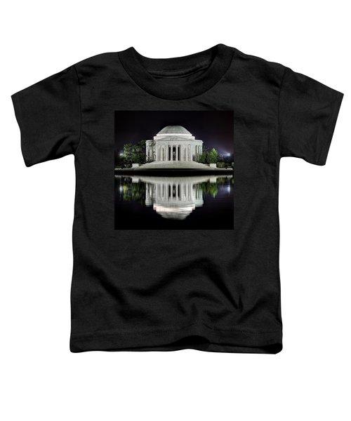 Jefferson Memorial - Night Reflection Toddler T-Shirt