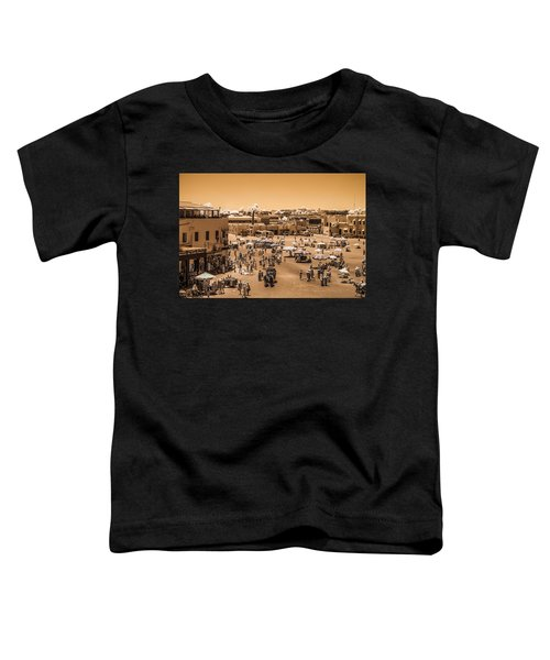 Jemaa El Fna Market In Marrakech At Noon Toddler T-Shirt