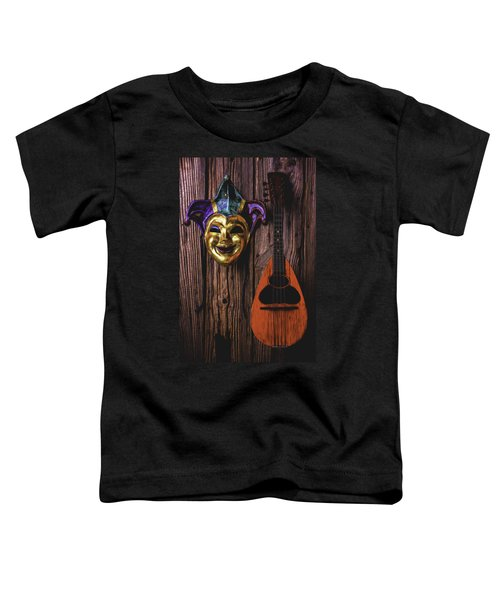Jester Mask And Mandolin Toddler T-Shirt