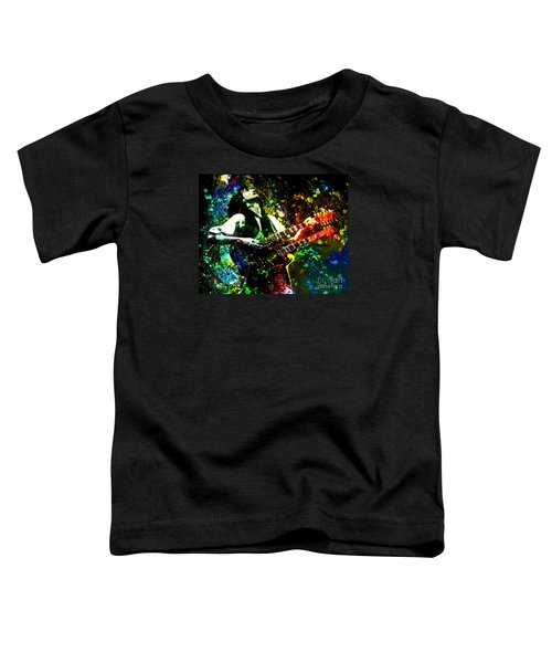 Jimmy Page - Led Zeppelin - Original Painting Print Toddler T-Shirt by Ryan Rock Artist