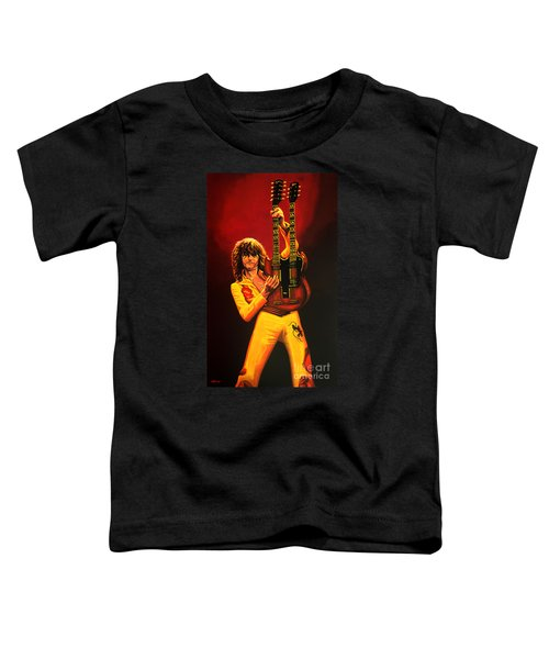 Jimmy Page Painting Toddler T-Shirt by Paul Meijering