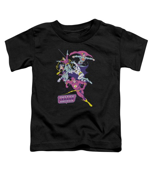 Jla - Colorful League Toddler T-Shirt