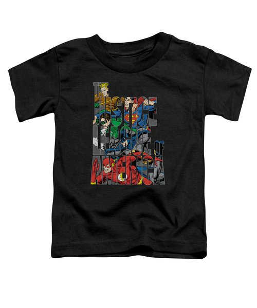Jla - Lettered League Toddler T-Shirt