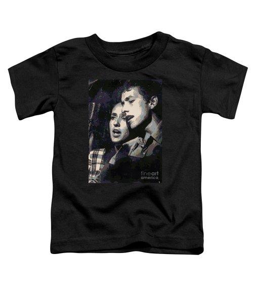 Joan Baez And Bob Dylan Toddler T-Shirt