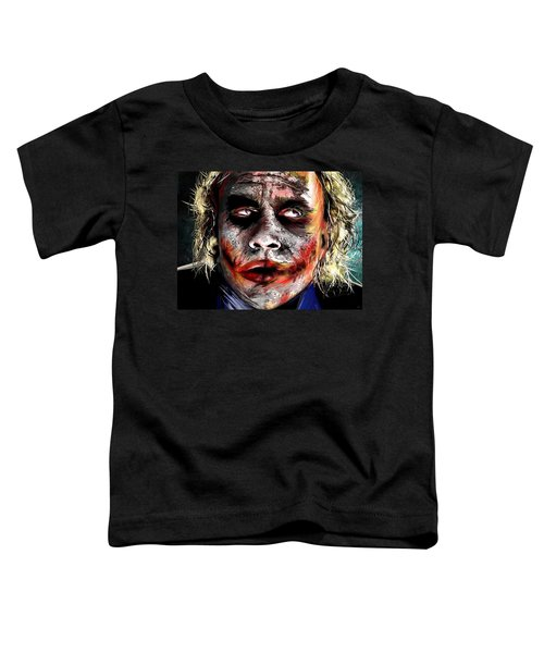 Joker Painting Toddler T-Shirt by Daniel Janda