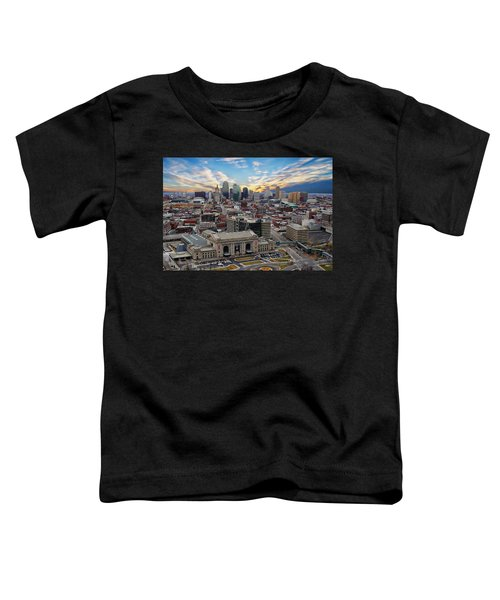 Kansas City Skyline Toddler T-Shirt