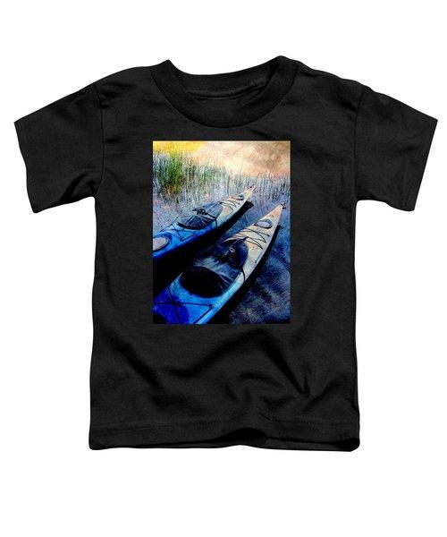 Kayaks Resting W Metal Toddler T-Shirt