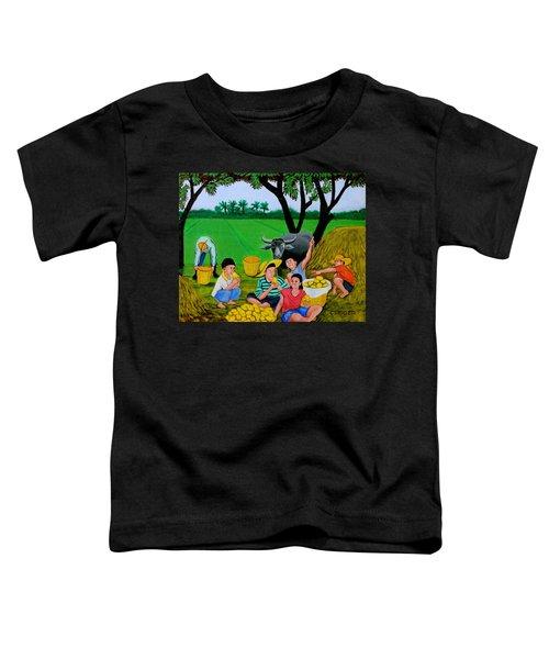 Kids Eating Mangoes Toddler T-Shirt