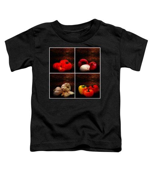 Kitchen Ingredients Collage Toddler T-Shirt