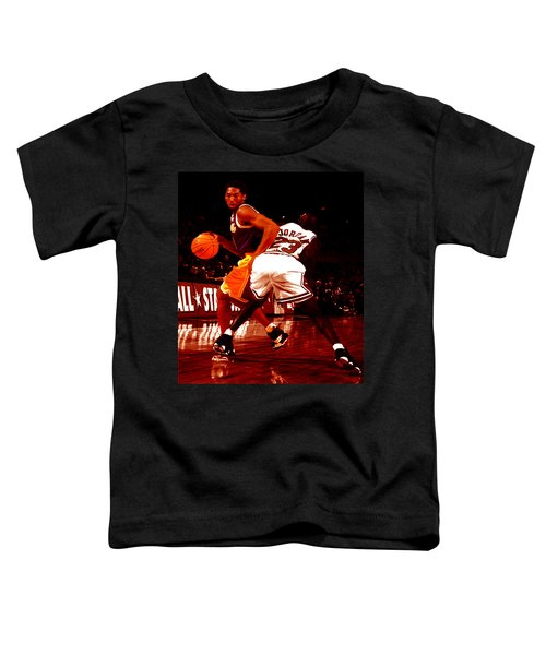 Kobe Spin Move Toddler T-Shirt by Brian Reaves