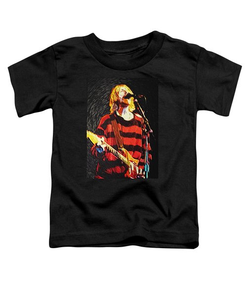 Kurt Cobain Toddler T-Shirt by Taylan Apukovska