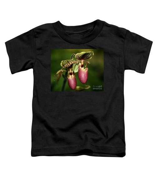 Lady Slipper Orchid Twins Toddler T-Shirt