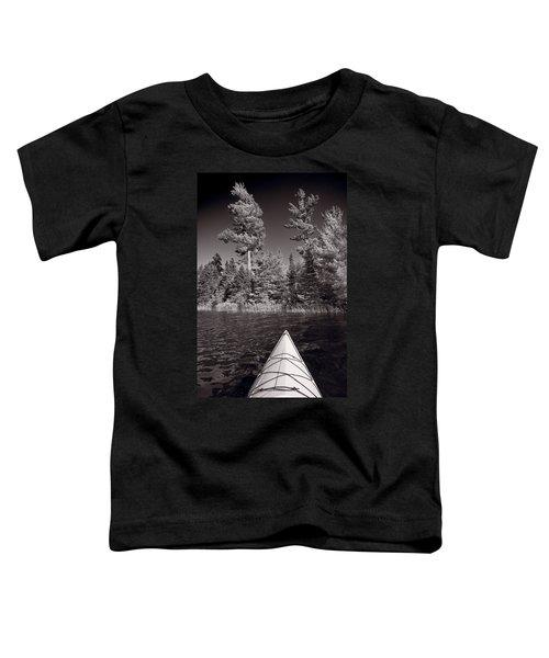 Lake Kayaking Bw Toddler T-Shirt