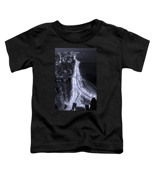 Lake Shore Drive Aerial  B And  W Toddler T-Shirt